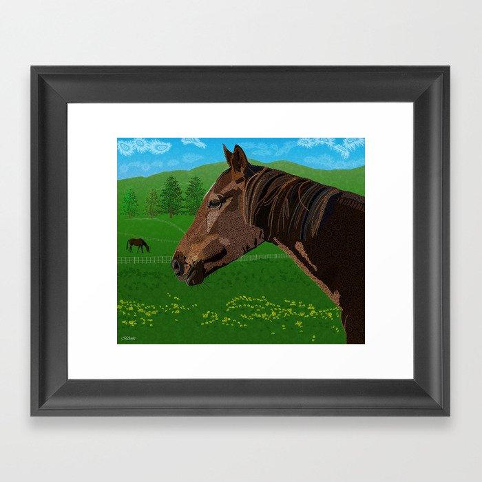 The Flower - The Horse  Framed Art Print