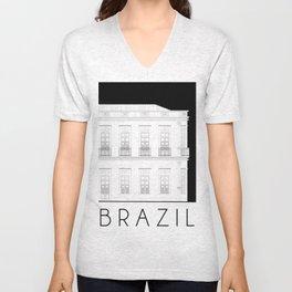 Brazil Facade Unisex V-Neck