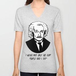 Albert Einstein quotes Unisex V-Neck