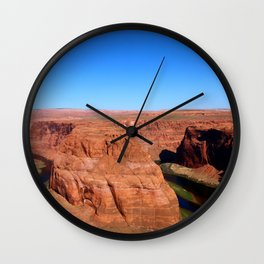 Early Morning At Horseshoe Bend Wall Clock