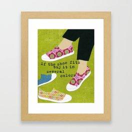 If The Shoe Fits Framed Art Print