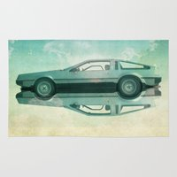 delorean Area & Throw Rugs featuring Siamese  Delorean by Vin Zzep