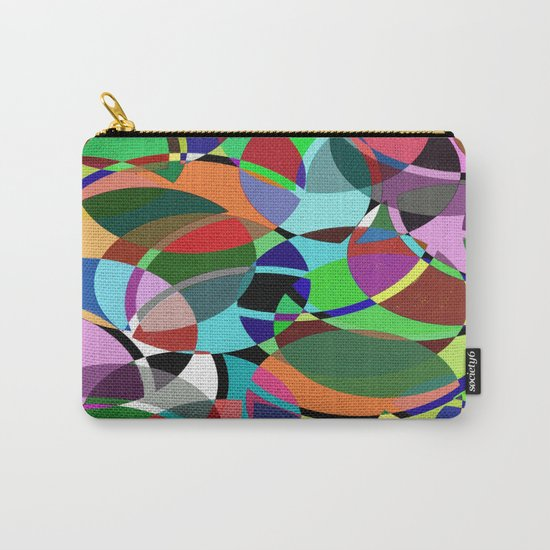 Pastel Pieces II - Abstract, textured, pastel, arcs and circles design Carry-All Pouch
