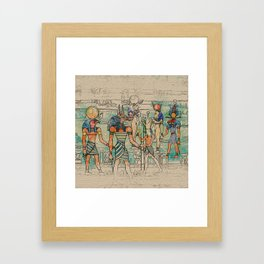 Egyptian Gods on canvas Framed Art Print