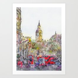 London Street 4 by Jennifer Berdy Art Print