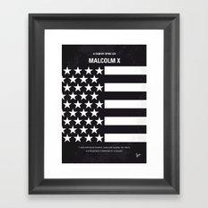 No250 My MALCOLM X minimal movie poster Framed Art Print