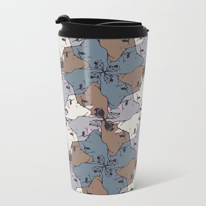 Frenchie Yoga Tessellations Metal Travel Mug