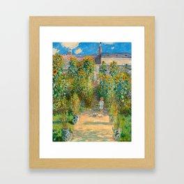Claude Monet, The Artist's Garden at Vétheuil, 1880 Framed Art Print