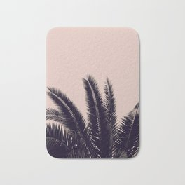 PALM TREE ROSE BLACK Bath Mat