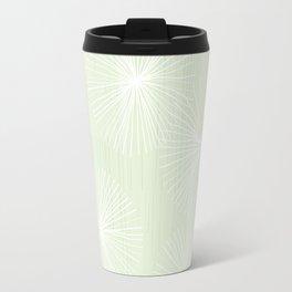 Dandelions in Mint by Friztin Travel Mug