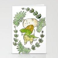 dinosaur Stationery Cards featuring Dinosaur  by MAKI