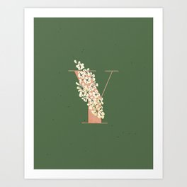 Y for Yellow-Eyed Grass Art Print