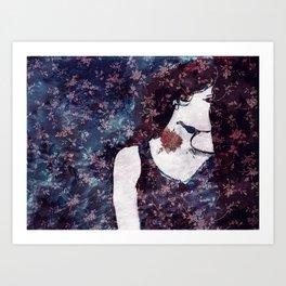 rose tattoo Art Print