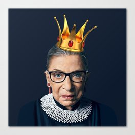 RUTH BADER GINSBURG with Crown Canvas Print