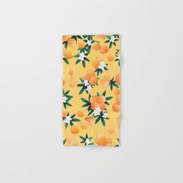 Orange Twist Flower Vibes #3 #tropical #fruit #decor #art #society6 Hand & Bath Towel
