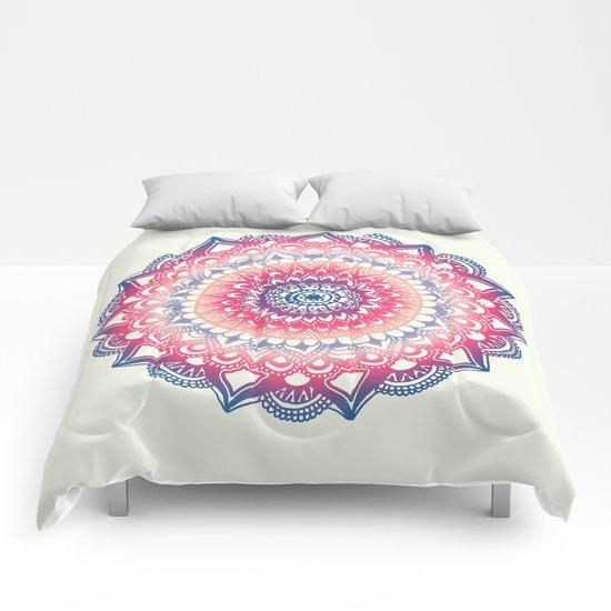 Ocean Sunset Mandala Comforters