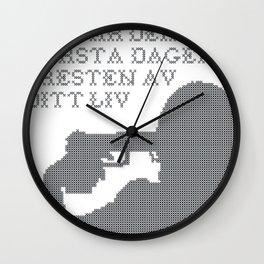 Resten av ditt liv Wall Clock