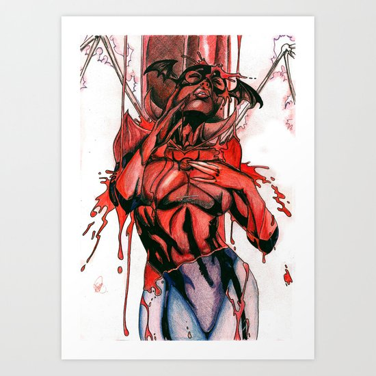 Bleez Coloured Art Print