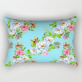 Vintage Floral Pattern No. 8 Rectangular Pillow