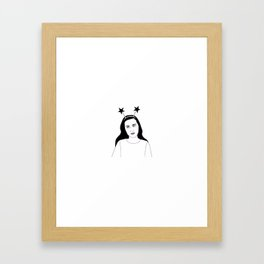 star girl Framed Art Print