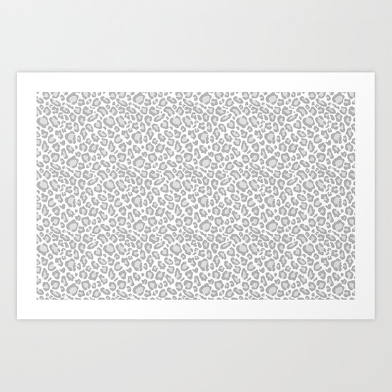 Grey Leopard Print by joacreations