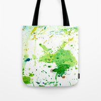 atlas Tote Bags featuring atlas by agnes Trachet