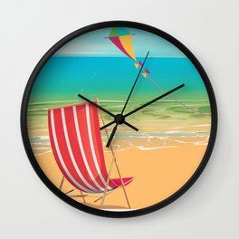 Clacton-on-sea travel poster Wall Clock