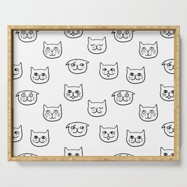 Cat heads Serving Tray