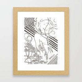 Love is a Ghost Framed Art Print
