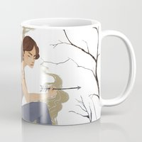 allison argent Mugs featuring Allison Argent, Winter by amanda herzman