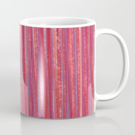 Stripes  - Candy pink red orange and blue Coffee Mug