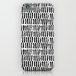 Stamped lines iPhone Case