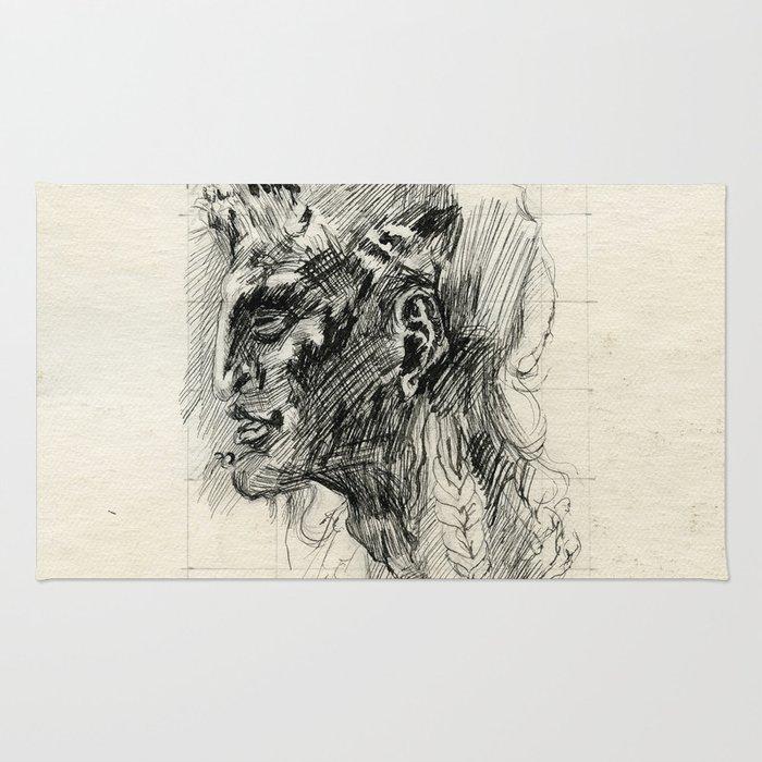 Head of satyr Rug