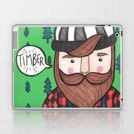Timber Lumberjack Laptop & iPad Skin