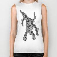 doodle Biker Tanks featuring Doodle by Jessica Stevens