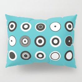 Circles Turquoise Pillow Sham