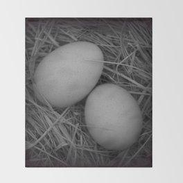 B&W Eggs Throw Blanket