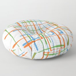 Abstract / Geometry - Colorful Terminal Floor Pillow