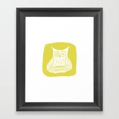 Hoot 3 Framed Art Print
