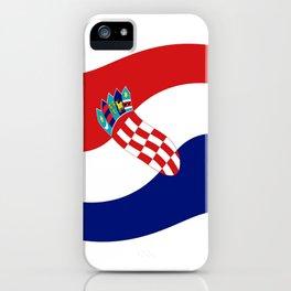 Flag of croatia 4 -croatian, Hrvatska,croat,croacia,Zagreb,split,rijeka,osijek. iPhone Case
