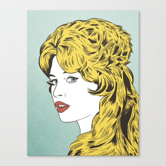 Blonde Bombshell Canvas Print