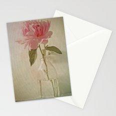 Peony Flower in Vintage Milk Bottle Botanical Still Life Stationery Cards