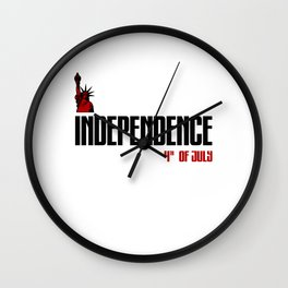 independence day 4th of july 2020 t-shirt Wall Clock