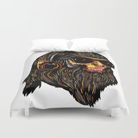 teen titans Duvet Covers featuring Teen Wolf by Vasco Vicente