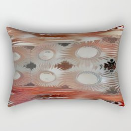 Corner Room 15 Resurrect Red Haze Rectangular Pillow