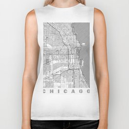 Chicago Map Line Biker Tank