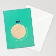 ...and the airplane jumped over the moon. Stationery Cards