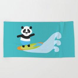 Surf Panda Beach Towel