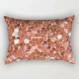 Rose gold glitter  II Rectangular Pillow