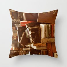 TOWER OF LUGGAGE Throw Pillow